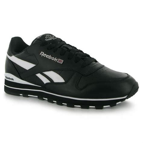 Reebok Mens Leather Casual Lace-up Sneakers