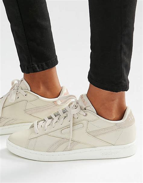 Reebok Npc Sneakers In Nude With Rose Gold Trim