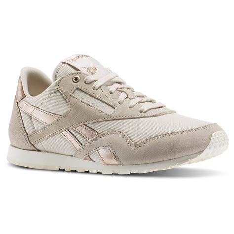 Reebok Nylon Sneaker Tan Rose Gold