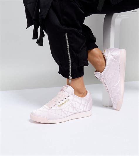 Reebok Princess Sneakers In Quilted Satin