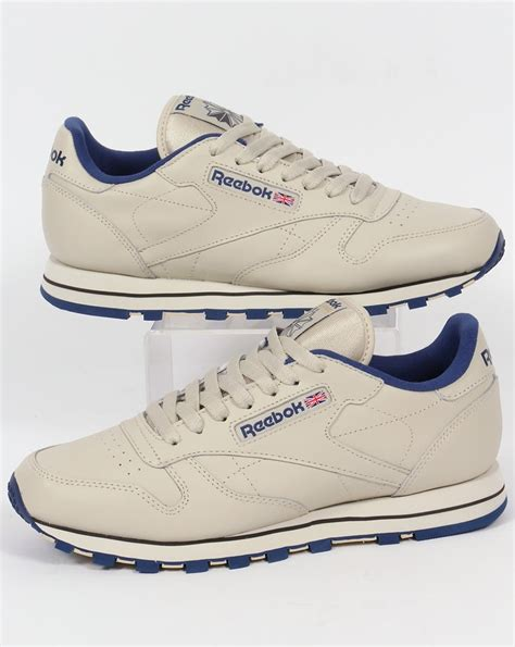 Reebok Sneaker Classic Leather Ecru Navy