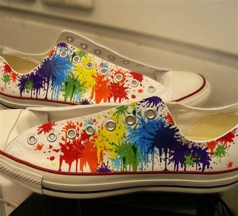 Reebok Sneakers Rainbow Paint Splatter
