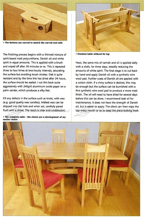 Refectory Table Design Plans