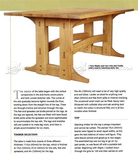 Refectory-Table-Plans