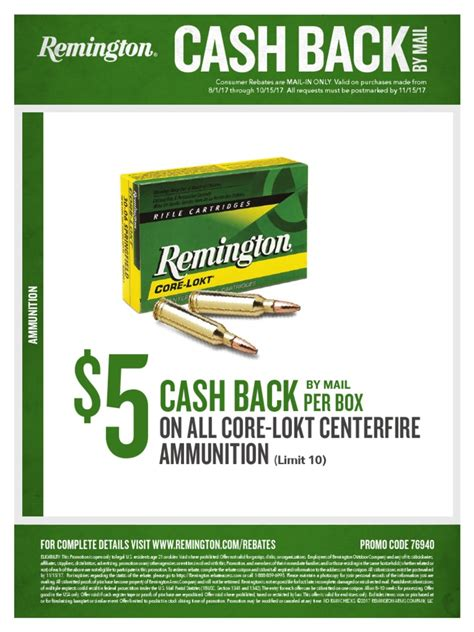 Remington Fall Ammo Rebate And Remington Umc 380 Ammo Reviews
