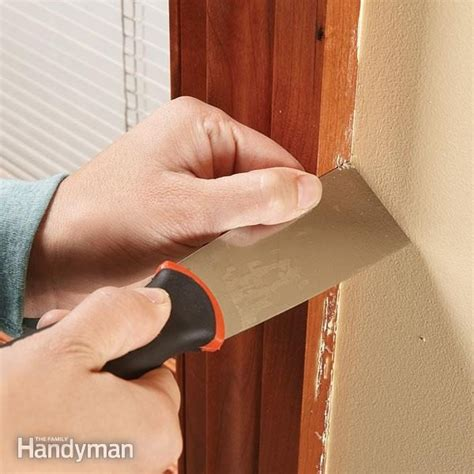 Remove Paint Drips From Woodwork