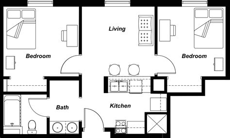 Residential Floor Plans With Furniture