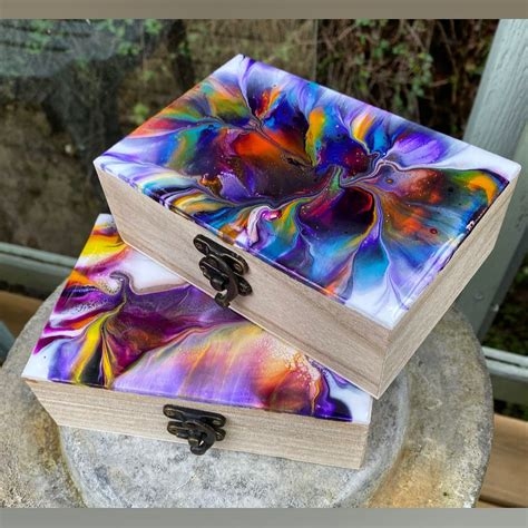 Resin And Wood Diy Jewelry Box