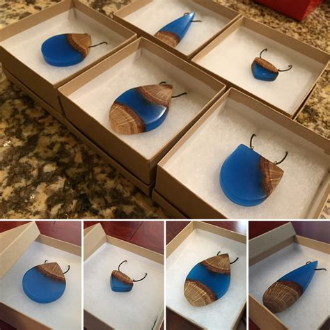 Resin And Wood Pendant Diy Necklace