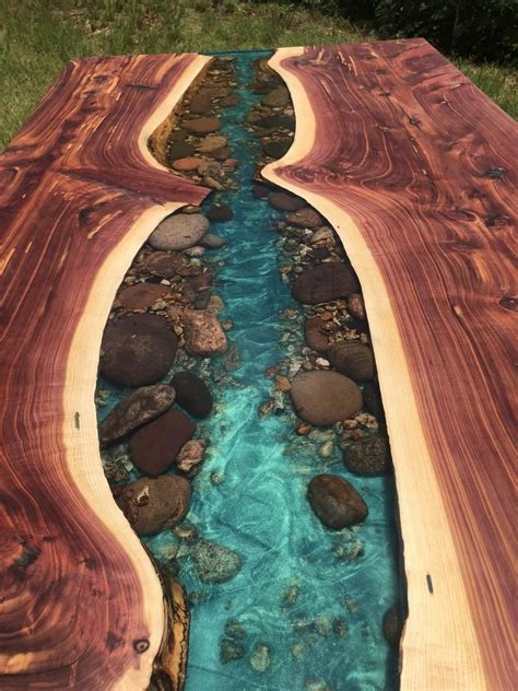 Resin River Water Live Edge Tables Diy
