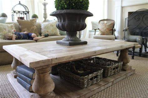 Restoration Hardware Balustrade Coffee Table Diy Bench