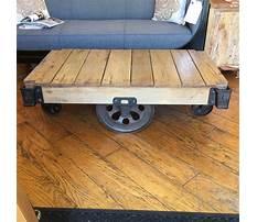 Best Restoration hardware industrial cart coffee table