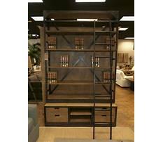 Best Restoration hardware leaning bookshelves