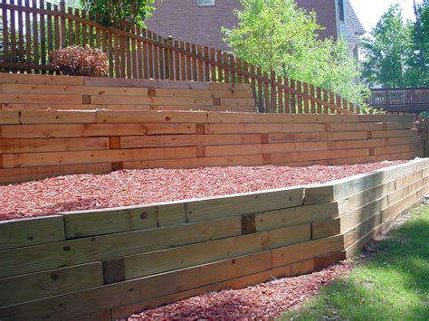 Retaining Wall Wood Design