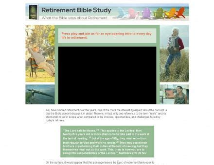 @ Retirement Bible Study Individual Or Group Options.