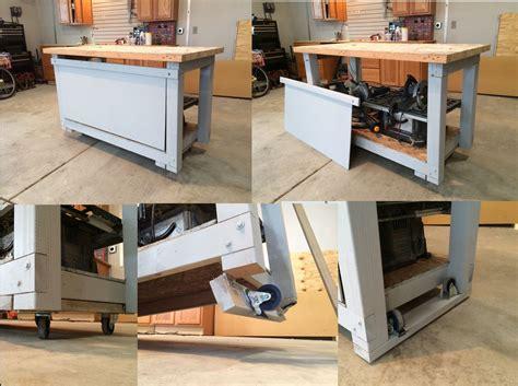 Retractable-Wheels-Workbench-Plans