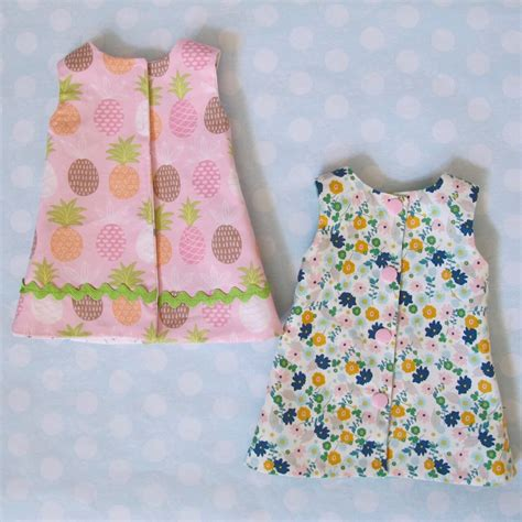 Reversible 18 Inch Doll Dress Pattern