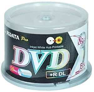 Ridata 8.5 GB 8 X Inkjet Printable Double Layer DVD+R 50-Pack (DRD+858-RDIWN-CB50) (Discontinued by Manufacturer)