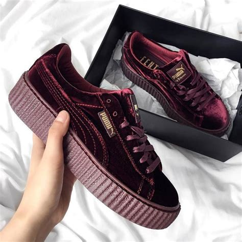 Rihanna Red Puma Sneakers