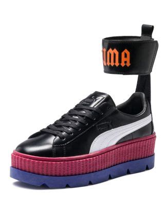 Rihanna X Puma Fenty Sneakers In Red Leather