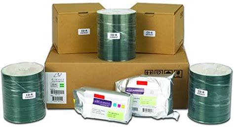 Rimage Everest 600/400 CD-R Media Kit - 500 Rimage Professional Classic CD-Rs (White Top, Diamond Dye), 1 CMY Ribbon, 1 Retransfer Roll