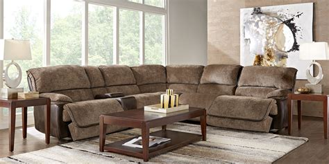 Riverbrook Coffee 6 Pc Reclining Sectional