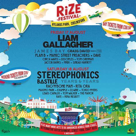 Rize Festival 2018 Lineup Hylands Park And Saga Music Festival Lineup