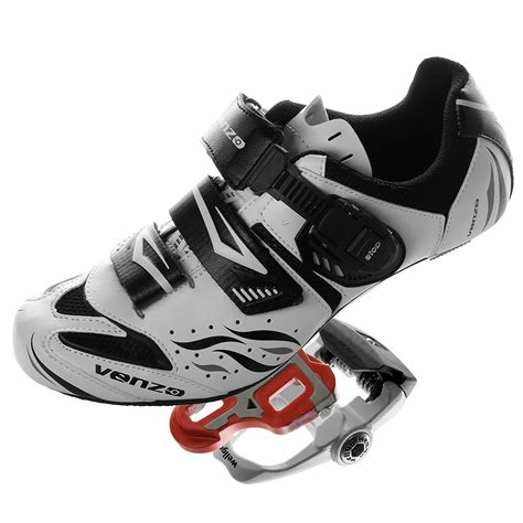 Road Bike For Shimano SPD SL Look Cycling Bicycle Shoes & Pedals