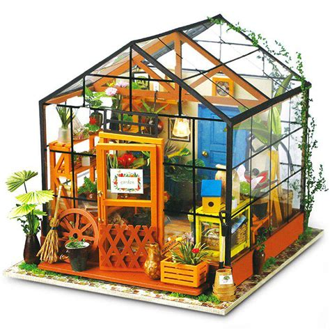 Robotime-Diy-Miniature-Dollhouse-Furniture-Kit-Greenhouse