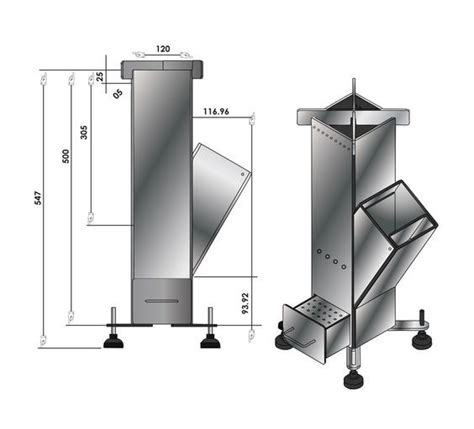Rocket Stove Dimensions