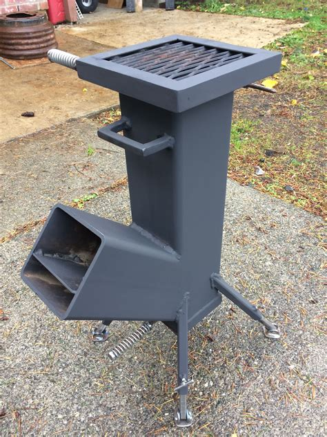 Rocket Stove Diy What Size Square Tubing