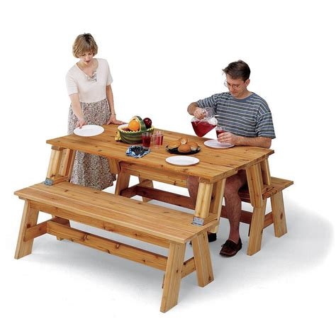Rockler Picnic Table Bench Combo Plan