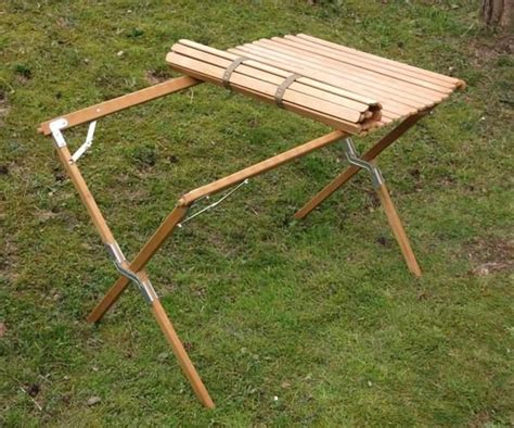 Roll Up Camping Table Diy Design