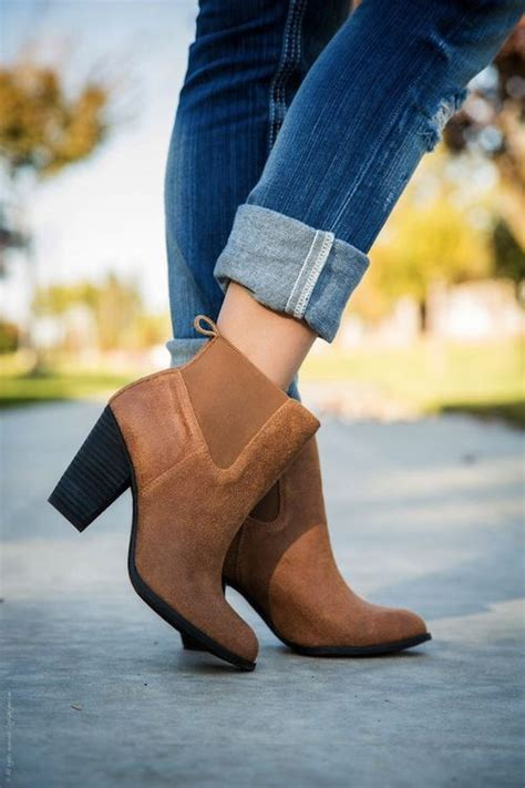 Rolled Jeans With Ankle Boots