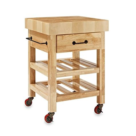 Rolling Butcher Block Cart Woodworking Plans
