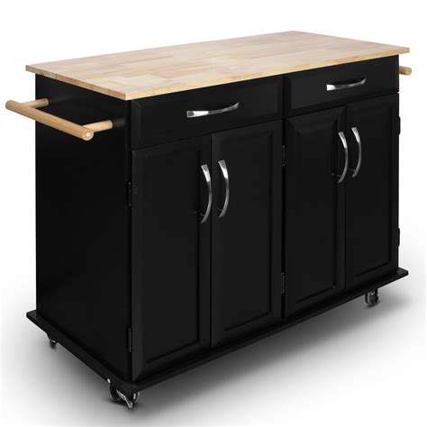 Rolling Kitchen Cabinet Table