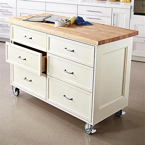 Rolling Kitchen Island Woodworking Plans