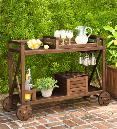 Rolling Patio Bar Cart Plans