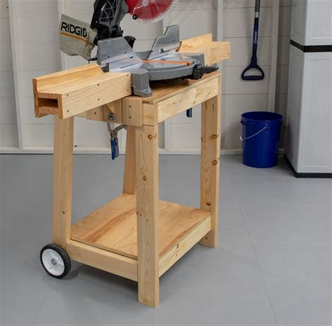 Rolling Saw Stand Diy
