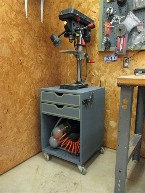 Rolling-Drill-Press-Stand-Plans