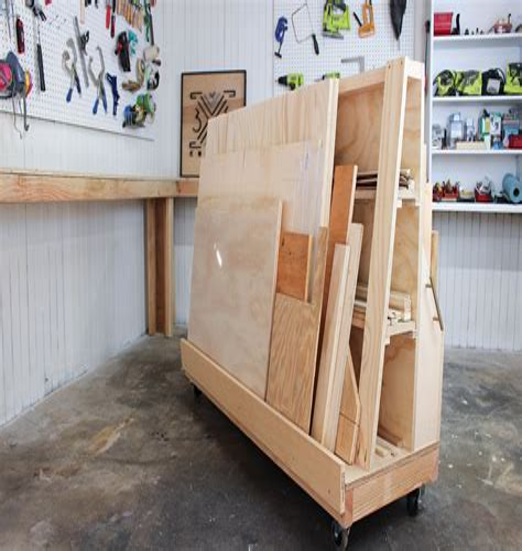 Rolling-Wood-Storage-Cart-Plans