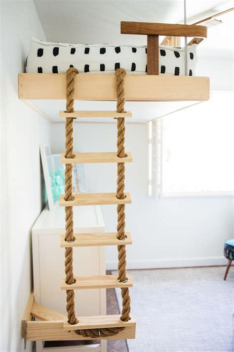 Rope Ladder Loft Bed Diy From Ikea
