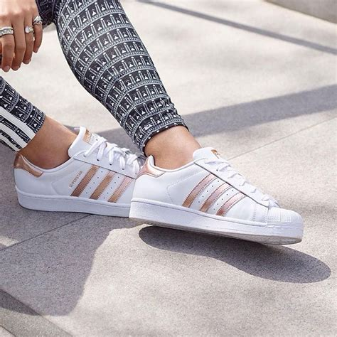 Rose Gold Womens Adidas Sneakers