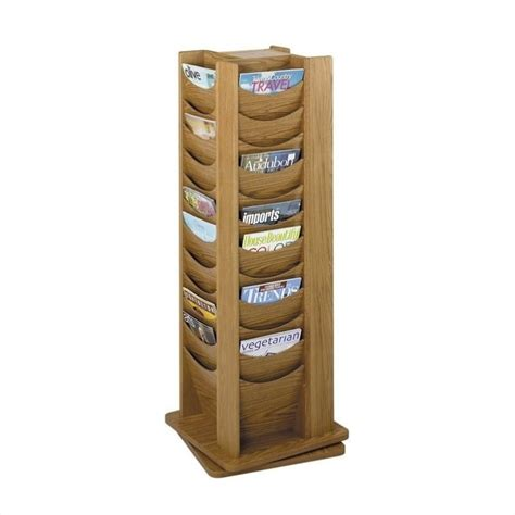 Rotating Wooden Magazine Racks