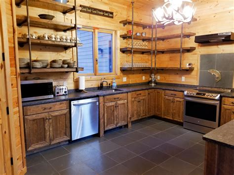Rough Sawn Cedar Kitchen Cabinets