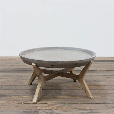 Round Concrete Coffee Table Diy Typical Dimensions