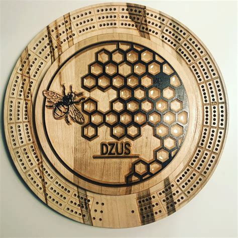 Round Cribbage Board Plans