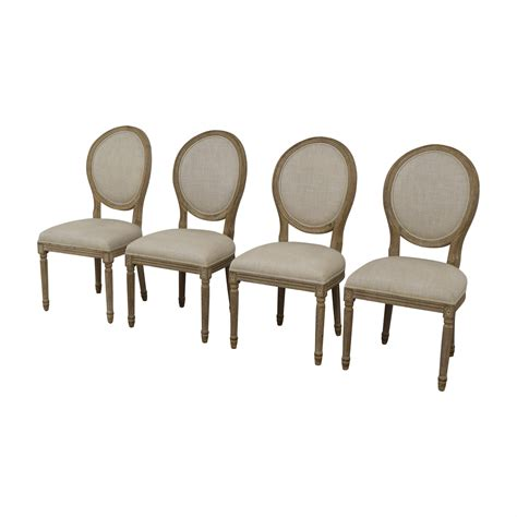 Round Dining Table And Tall Back Chairs Restoration Hardware