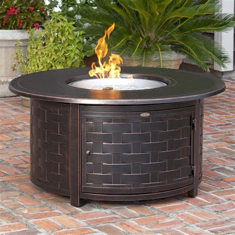 Round Fire Pit Table Diy With Shelf