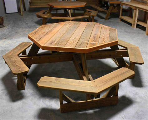 Round Free Free Hexagon Picnic Table Woodworking Plans